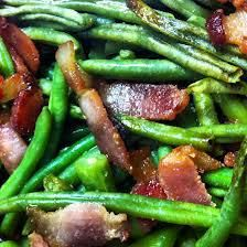 Green Beans Smoked Bacon with Balsamic Recipe