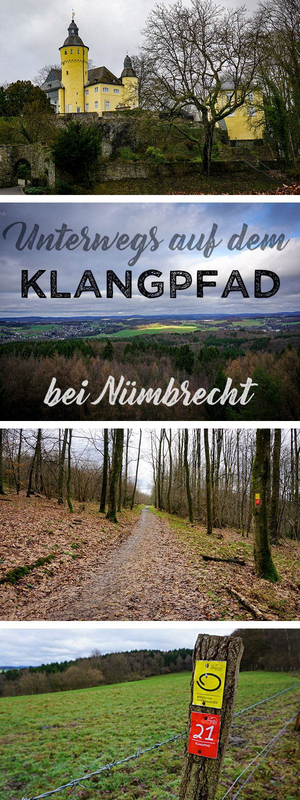 """Wandern auf dem Bergischen Streifzug 21, dem """"Klangpfad"""" bei Nümbrecht in NRW: los geht es bei Schloss Homburg"""