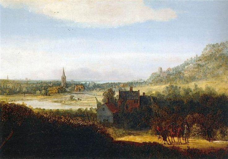 Hercules Seghers - Landscape with Armed Men -  1625/35