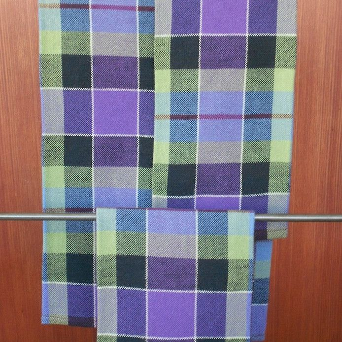 Tartan Kitchen Towel Handwoven In The Holt Family Sett