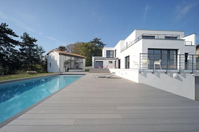 42 best Idées Déco - Outdoor images on Pinterest Swimming pools - peinture revetement exterieur aluminium