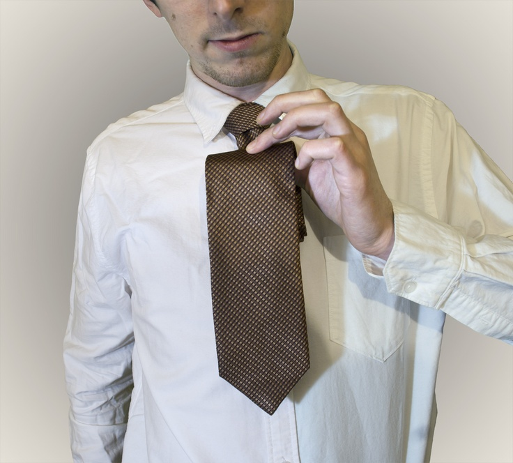 gold silk #tie, Marks & Spencer