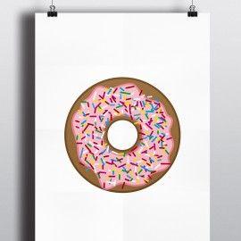 Plakat A4 I Donut Care