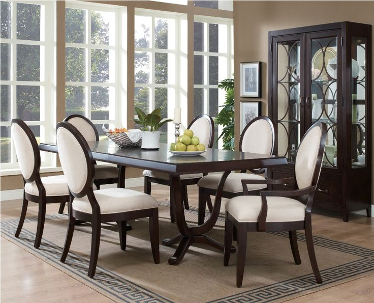 Contemporary Dining Room Furniture And Chandelier