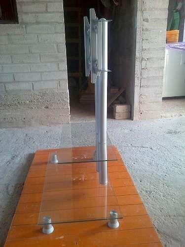 Mesa De Vidrio Con Rack Para Tv (lcd,led,plasma)   Idea práctica para la sala. Ahorro de espacio y funcionalidad para tv smart.