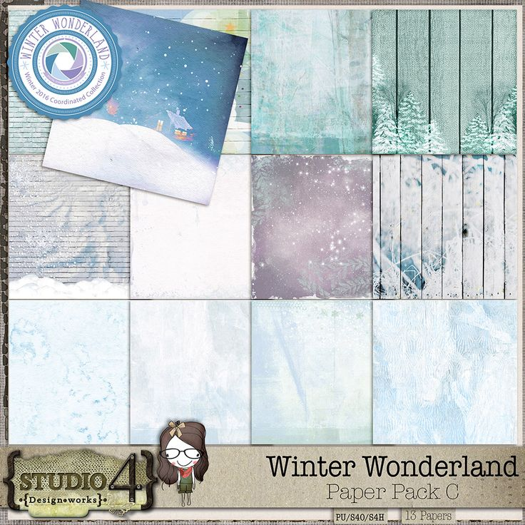 Digital Art :: Paper Packs :: Winter Wonderland Paper Pack C