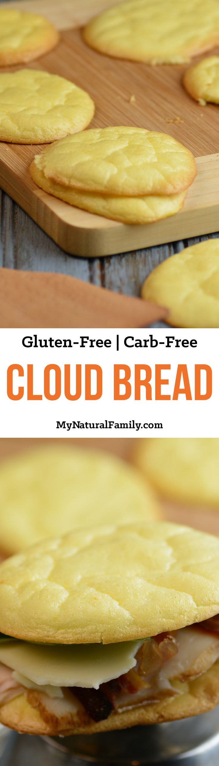 4-Ingredient Cloud Bread Recipe {Gluten-Free, Carb-Free} \u2013 Plus Ideas of How to Use It