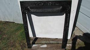 """Vintage Cast Iron Fireplace Damper Surround Frame 30 """" H X 24 1/2"""" W Victorian"""
