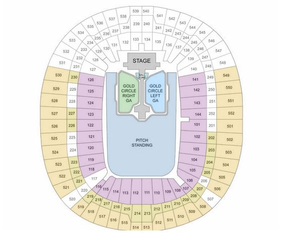 Wembley Stadium Seating Plan – Capital's Summertime Ball 2016 - Summertime Ball - Capital FM