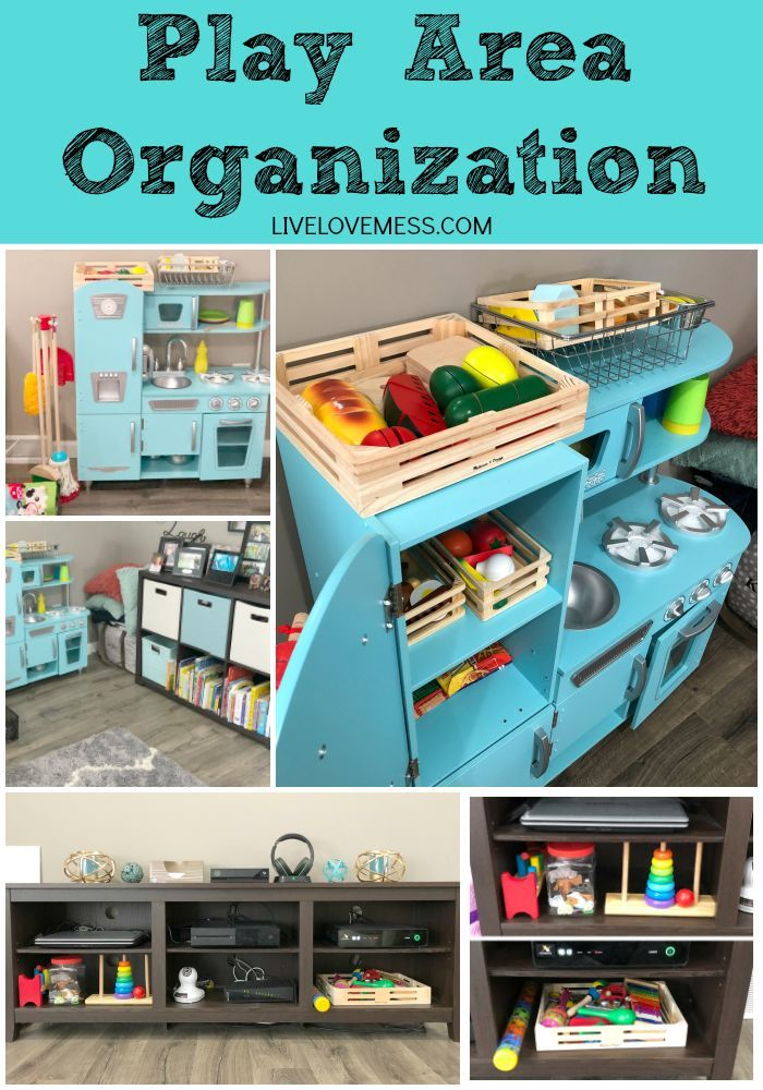 Toys For Infants >> Play Area Organization for Toddlers | Kid toy storage, Toy ...