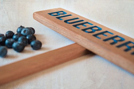 BLUEBERRIES Garden Sign Painted & Oil Sealed by TheCommonSign, $7.00