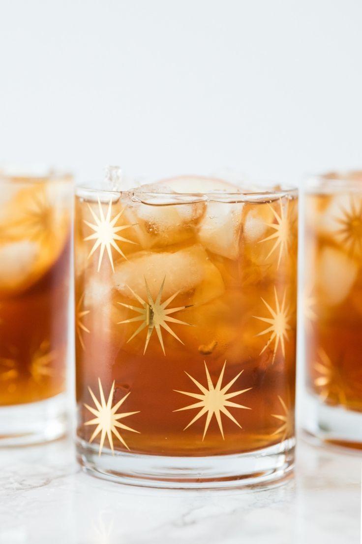 Peach Whiskey Smash Cocktail