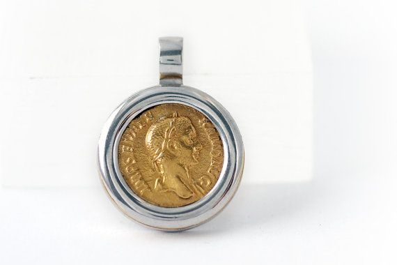 Pendentif pièce, Roman pièce collier de pièce de monnaie, Alexandre le grand, hommes femmes bijoux, pièces Vintage, collier disque, collier de pièce
