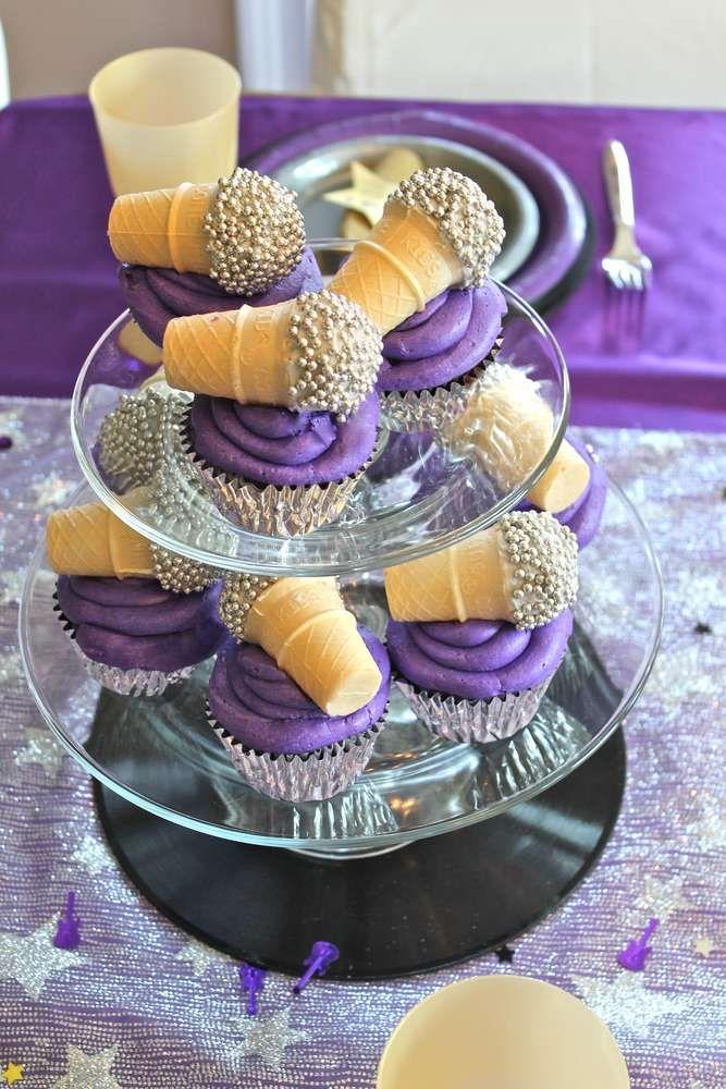 Olivia's Purple Pop Star Party | CatchMyParty.com