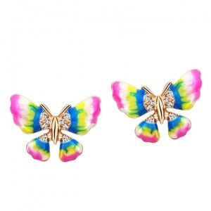 Earstuds with butterfly. $17.00 Click to open.