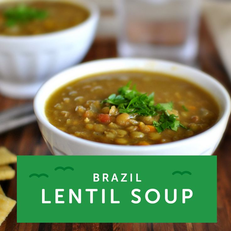 Love lentils? In Brazil the first meal of the new year is traditionally lentil soup with rice. Get inspired with more veggie soup recipes.