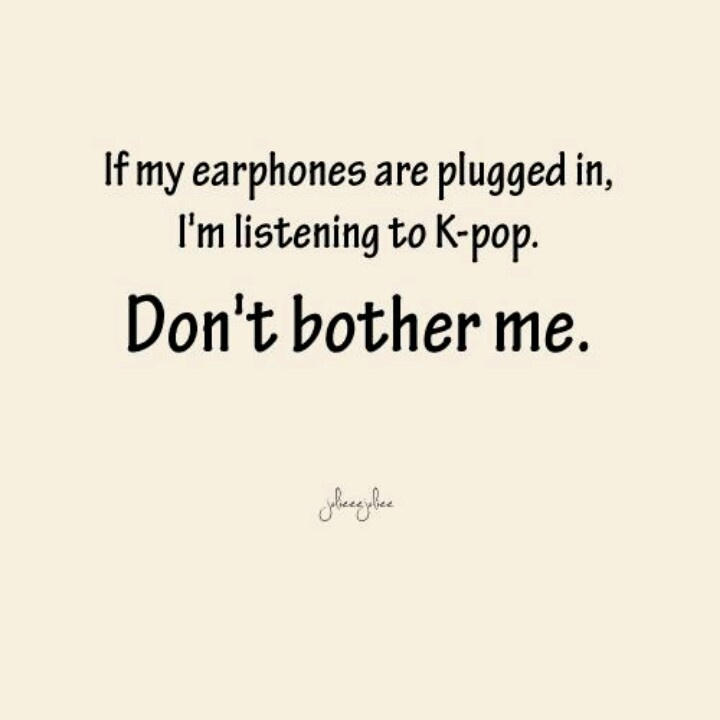 I should make a sign of this and wear it everytime I'm listening to music ;)