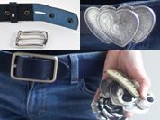 How interchangeable belts work. Belts from onceuponabelt.com where you can choose own strap and own buckle