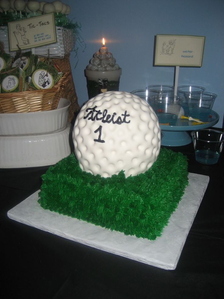 Golf Ball Cake- My dad would love this!