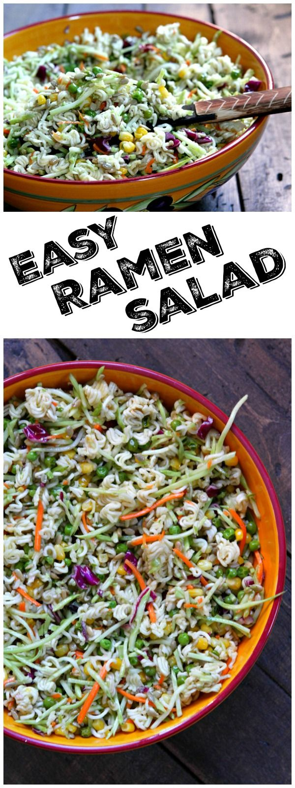 Super Easy Ramen Salad recipe : this is the kind of recipe that is always a huge hit at parties- it's the first salad to go! :  recipe from RecipeGirl.com