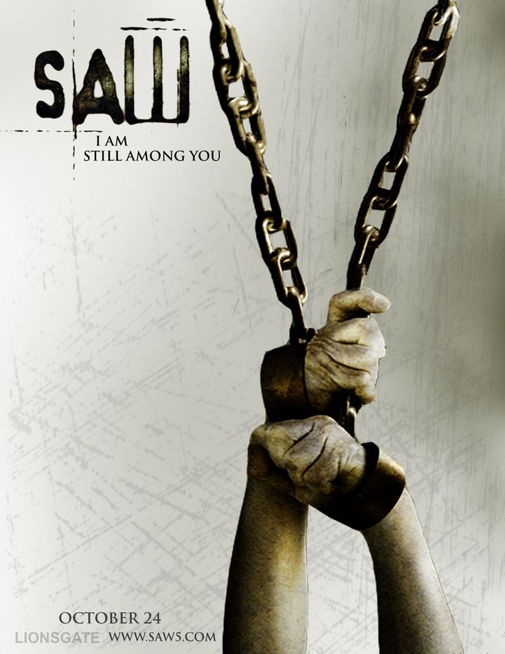 Saw V Teaser Poster...great design, sucks for the person those hands belong to.