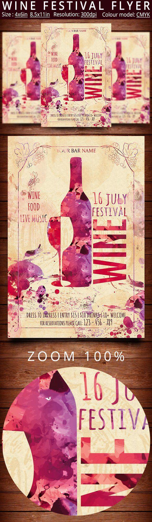 Wine Festival Flyer Vintage & 80 best Wine images on Pinterest | Wine festival Festival flyer and ...