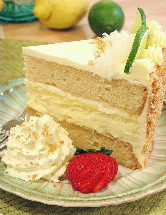 Margarita Cake w/ Key Lime Cream Cheese Frosting