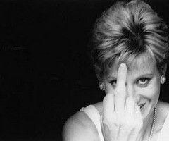 Princess Diana...what?! I didn't see a thing!! lol. ;-D