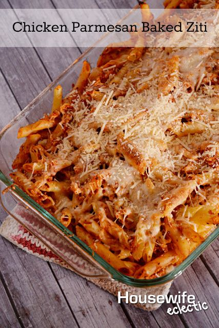 Housewife Eclectic:Chicken Parmesan Baked Ziti. Everything you like about the original with added delicious flavors! #simmeredintradition #ragu