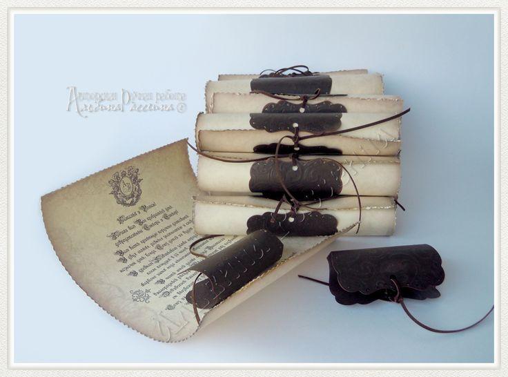 ♥ Приглашения на свадьбу. Стильная свадьба. Сайт дизайнера.: Старые свитки - приглашения на свадьбу в Праге.