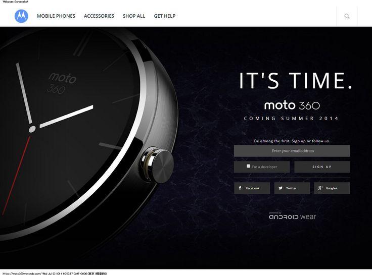 Moto 360 by Motorola https://moto360.motorola.com/