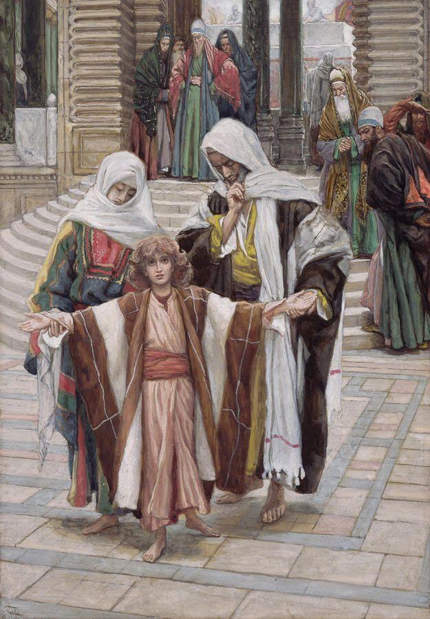 Jesus Found In The Temple -  Tissot, James Jacques Joseph (1836-1902)