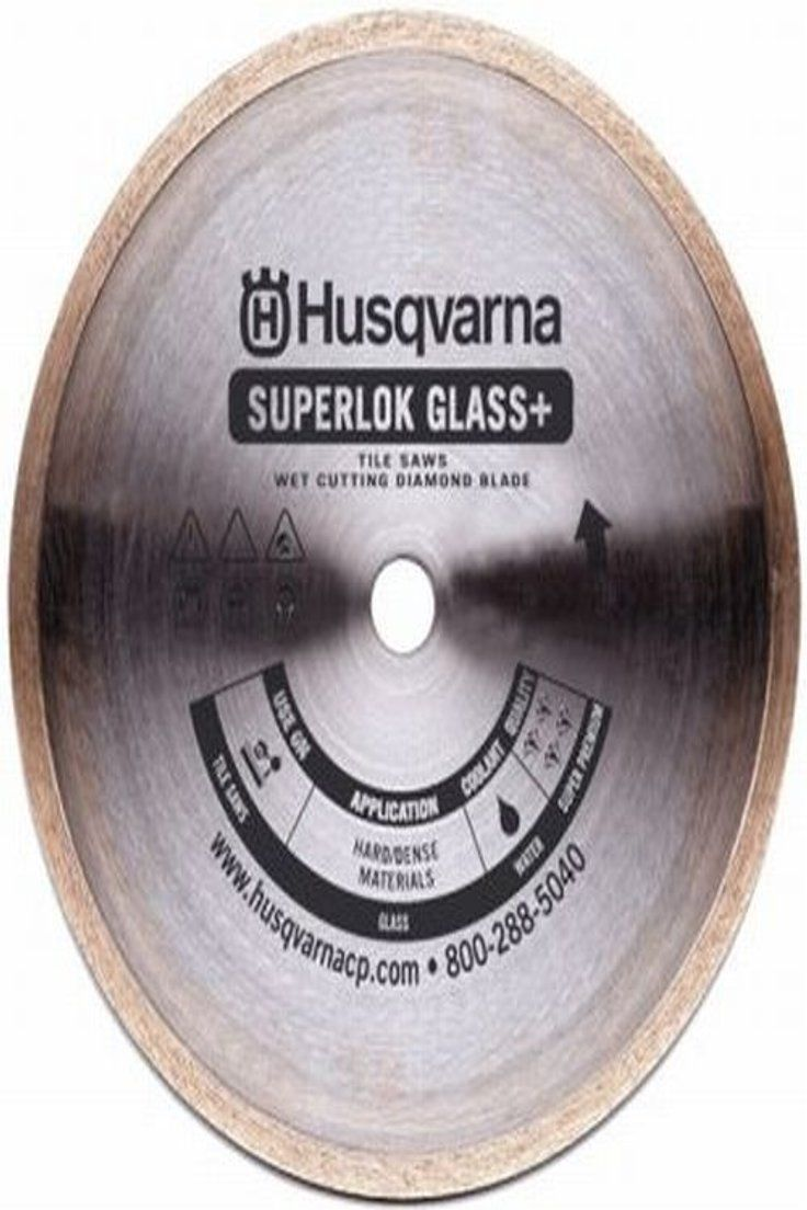 Husqvarna Ceramic Tile Saw Blade 10-inch Premium Superlok Porcelain Plus