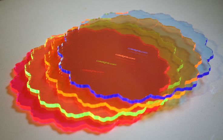 10  Neon Acrylic Lighted Cake Plate or Stand. These can be used many times : acrylic cake plates - pezcame.com