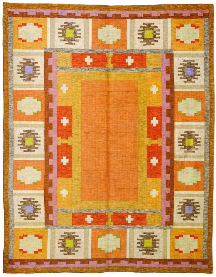 Delightful Scandinavian Carpet   Scandinavian Rug   Vintage Rug   By Doris Leslie Blau