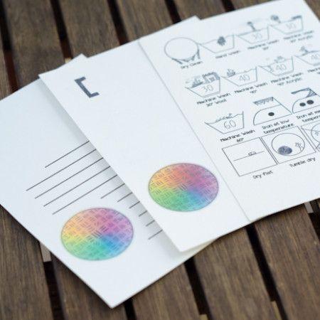 Kar{e}tpostal – Care Laundry Label Cards by Asimina Saranti #udt uberdentraum.com