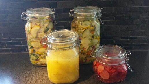 Inlagda grönsaker och limoncello