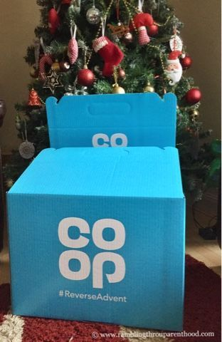 Giving back with ReverseAdvent. I am doing a ReverseAdvent with the Co-op this year. I will add one non-perishable item of food to my Reverse Advent box every day from the 1st to the 24th of December, and then donate the box.   In a time when everyday life is governed by senseless commercial capitalism, this Reverse Advent is a beautiful opportunity to reinforce charitable giving.