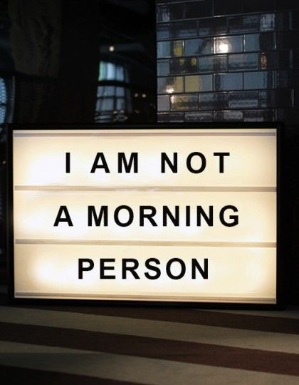 I am not a morning person lightbox