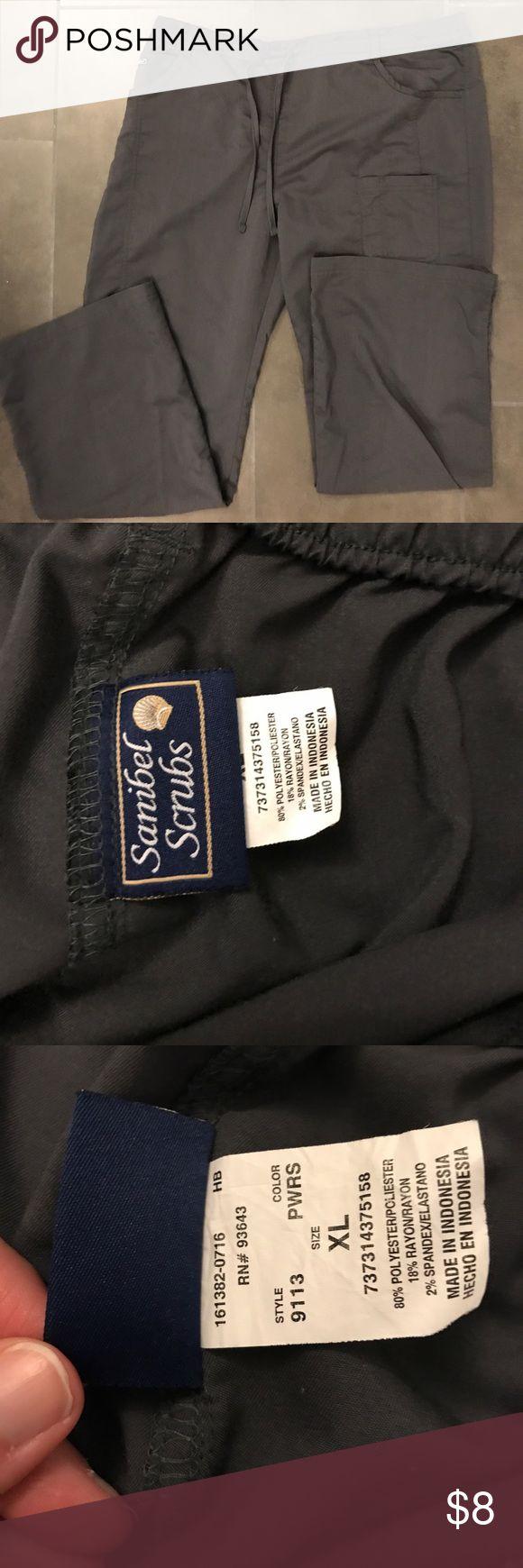 XL scrub pants Great gray Sanibel scrub pants with drawstring waist and elastic back. Super comfy and easy to wear Sanibel Pants