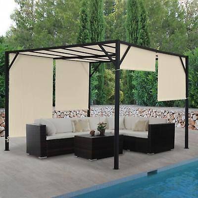 Pergola-Baia-Garden-Gazebo-6cm-Steel-frame-Sunroof-3x3m-4x3m-4x4m