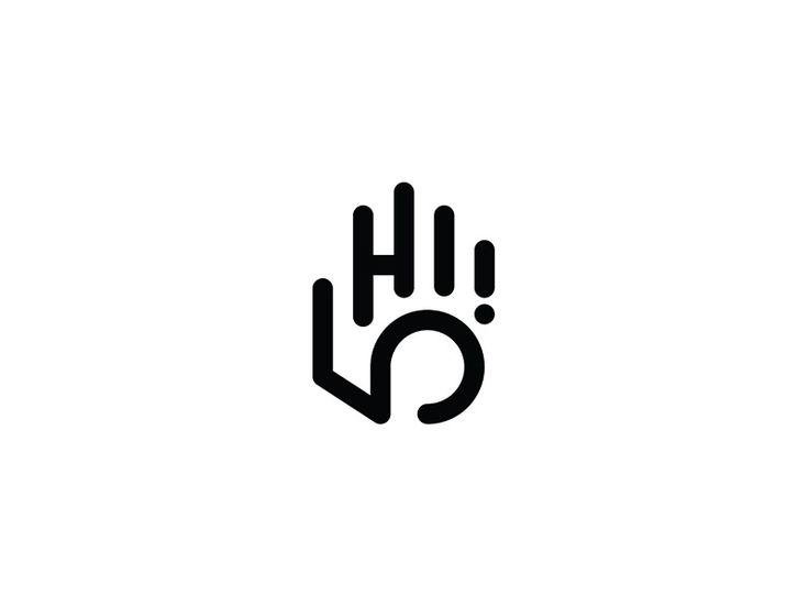 "019/365: HI 5!  Usually, when you throw out a high five, it's followed with a greeting like ""Hi,"" or ""What's up?"" For this logo, I decided to wrap all that together. This style is very similar to m..."