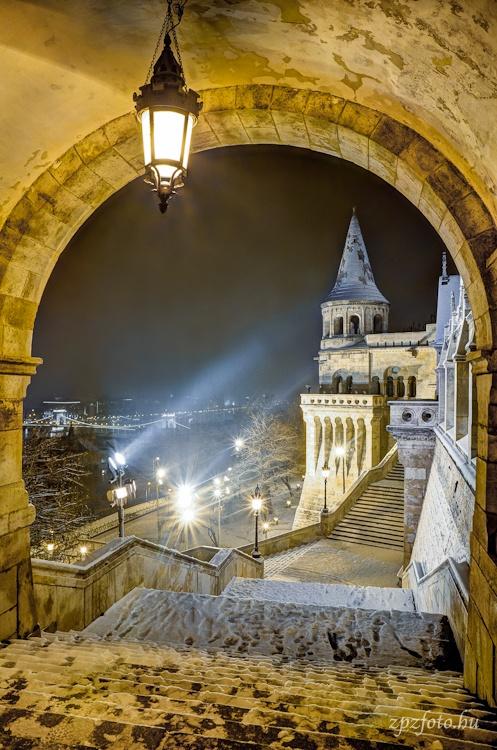 Bastión de los pescadores en invierno - Budapest, Hungría