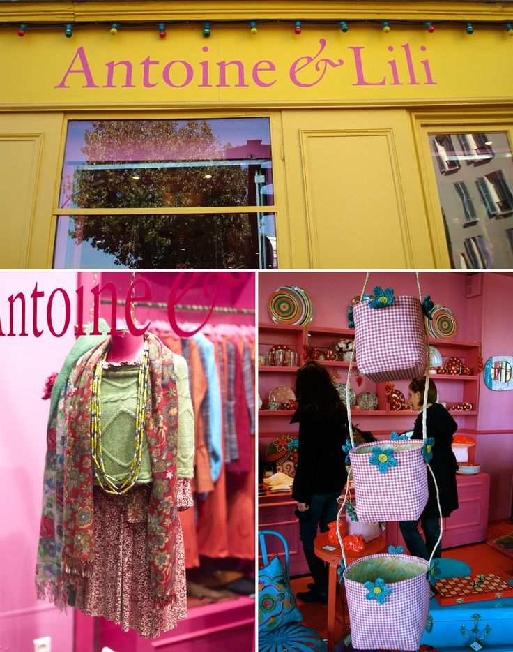 Antonine et Lili. My new favourite shop in Paris. Canal St Martin.