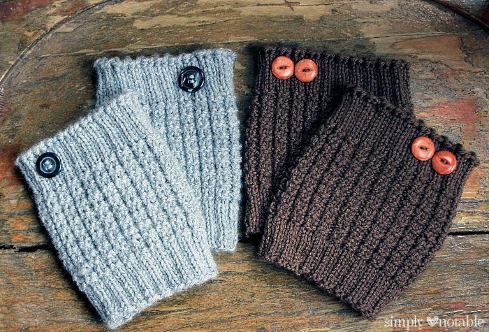 Easy Knit Boot Cuff Knitting Pattern by SimplyNotable.com