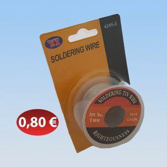 Σύρμα συγκόλλησης 1mm. 0,80 €-Ευρω