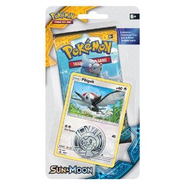 Pokémon TCG Sun & Moon Pikipek Checklane Blister  Breid nu je Pokémon-kaartenverzameling uit met deze Pikipek Checklane Blister! De Blister bevat 1 Pokémon TCG Sun & Moon booster (10 kaarten) één van de twee speciale promokaarten en 1 flip coin.  EUR 6.49  Meer informatie