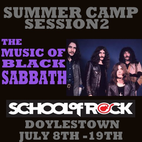 #Schoolofrock presents the #music of #Blacksabbath #summercamp #fun #friends #summer #doylestown #buckscounty #livemusic