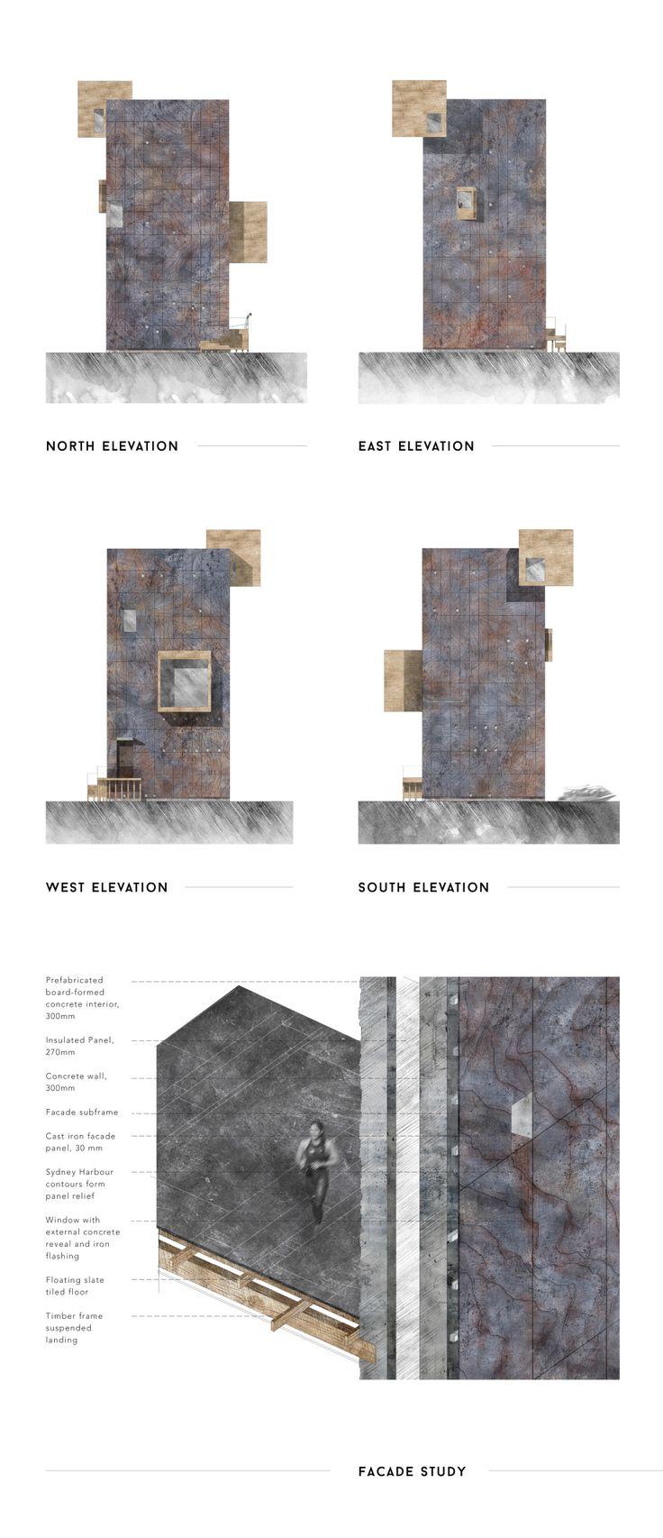 Sydney Harbour - elevations + facade study