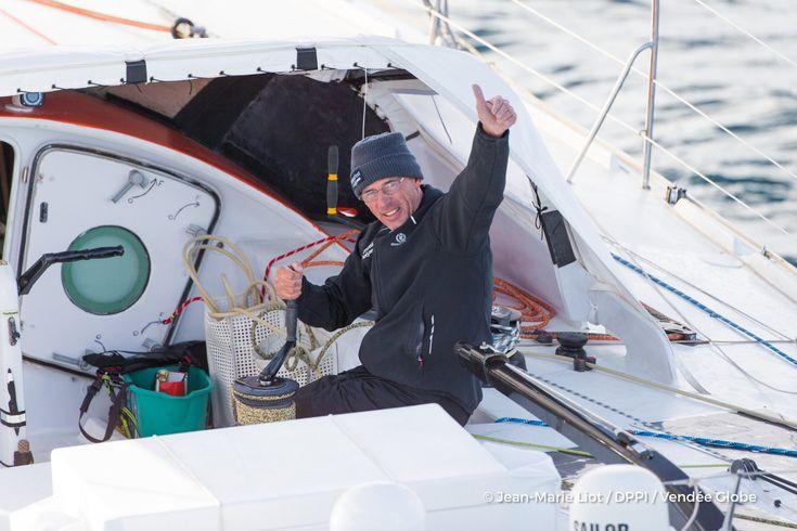 Sebastien Destremau (FRA), skipper Technofirst Face Ocean, at start of the Vendee Globe, in Les Sables d'Olonne, France, on November 6th, 2016 - Photo Jean-Marie Liot / DPPI / Vendee GlobeSebastien Destremau (FRA), skipper Technofirst Face Ocean, au dép